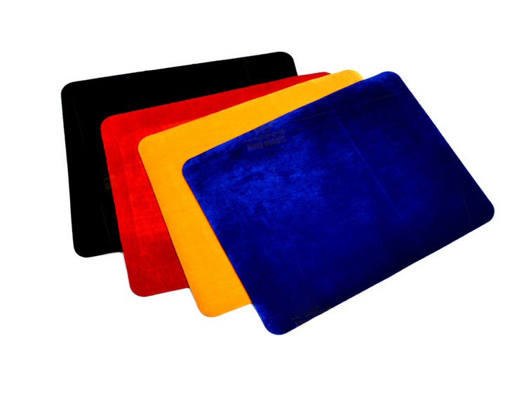 High Quality Professional Card Mat Black Red Blue Yellow Standard Size 42*32cm Pad For Poker & Coin Magic Tricks Props 81519 predictable time magic props yellow