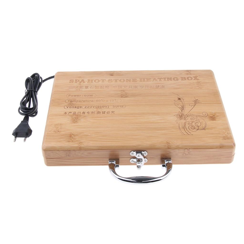 1pcs Spa Massage Hot Stone Rock Heating Box Case Massage Stone Warmer Case Heater EU Plug