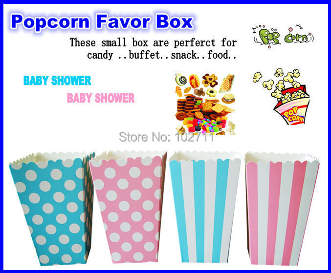 Free shipping 720 Pcs Per Lot polka dot Mini Popcorn Boxes - Party Packs Available- Height: 4.5 Width: 3 Set of 12pc