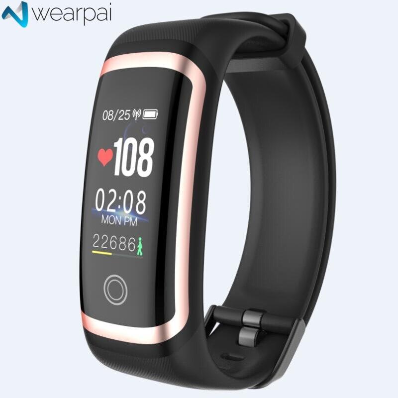 Wearpai M4 fitness tracker Color presión arterial passometer mensaje/llamada recordatorio smart pulsera para deportes natación