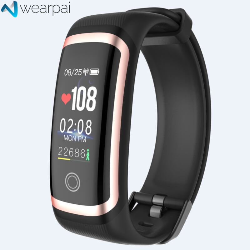 Wearpai M4 fitness tracker Color screen blood pressure passometer message/call reminder smart bracelet for sports swimming image