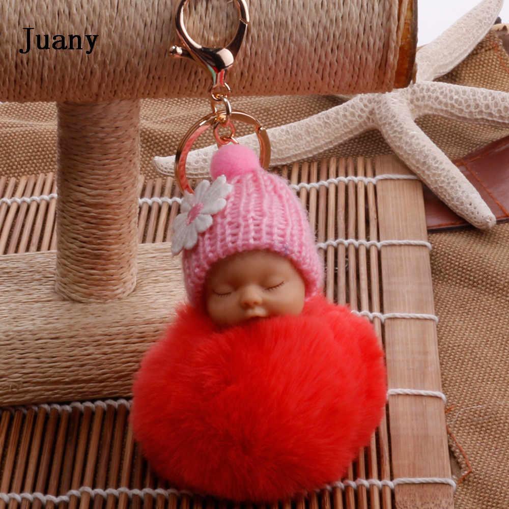 Искусственный мех Pom брелок для женщин брелок автомобильный брелок для ключей ювелирные изделия подарок пушистый брелок на сумку