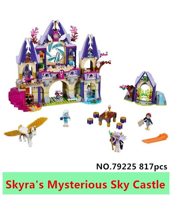 New LELE 79225 817pcs Elves Azari/Aira/Naida/Emily Jones skyra's Mysterious Sky Castle Building Blocks Bricks toy For Girls gift roomble подсвечник aira rose