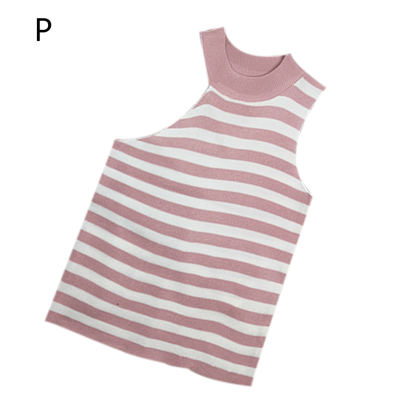 Summer Tank Top Women Fashion Personality Striped Casual Concise Slim Fit tops women Round Neck Sleeveless Camis Vest in Camis from Women 39 s Clothing