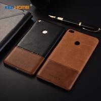 Kezihome For Xiaomi Mi MAX 2 Case Genuine Leather Hard Back Cover For Xiaomi MI MAX2