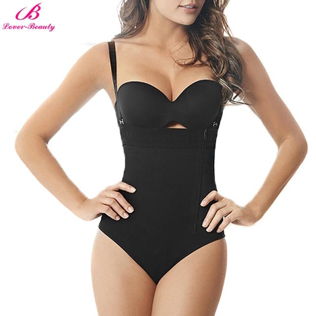 244ec71f569c Lover-Beauty Tummy Control Underwear Zipper Briefs Thong Bodysuit Women  Shapewear Feminino Slim Body Shaper Slip Body Shaper