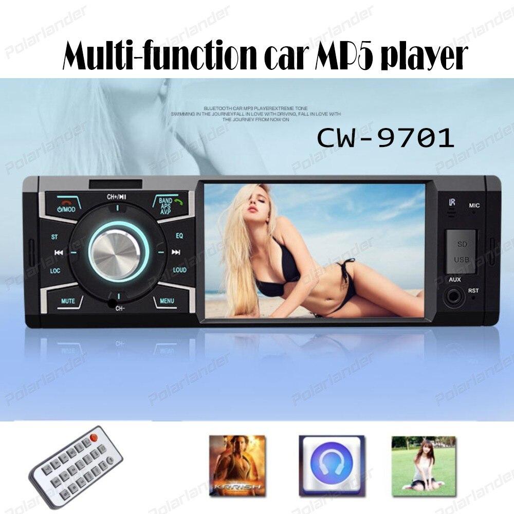 2017 new arrival 4 inch EQ sound control Car MP5 Players Bluetooth Phone AUX IN FM