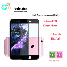 0.3mm 9H Tempered Glass Film sFor iPhone 6S 6 / 6Plus 6S Plus Screen Protector 2.5D Round Edge For iPhone Model, 5PCS/LOT