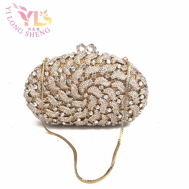 цена Women Vintage Beaded Evening Bags Gold Clutches with Chain for Evening/Party/Dinner/Cocktail Women Shoulder Bag YLS-HOW32