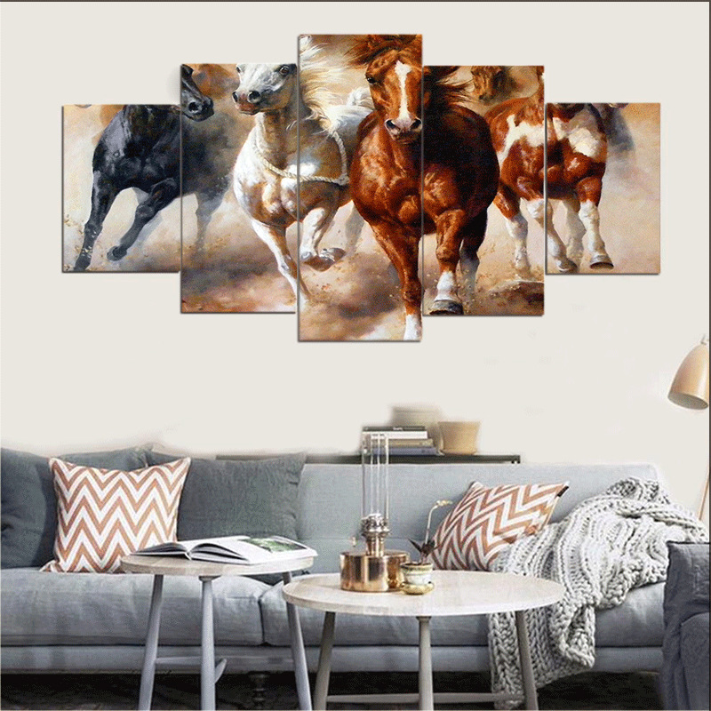 Permalink to Painting & Calligraphy Horse Canvas Painting Portrait Canvas Wall Art for Living Room Wall Decor Home Decor Drop shipping MA14