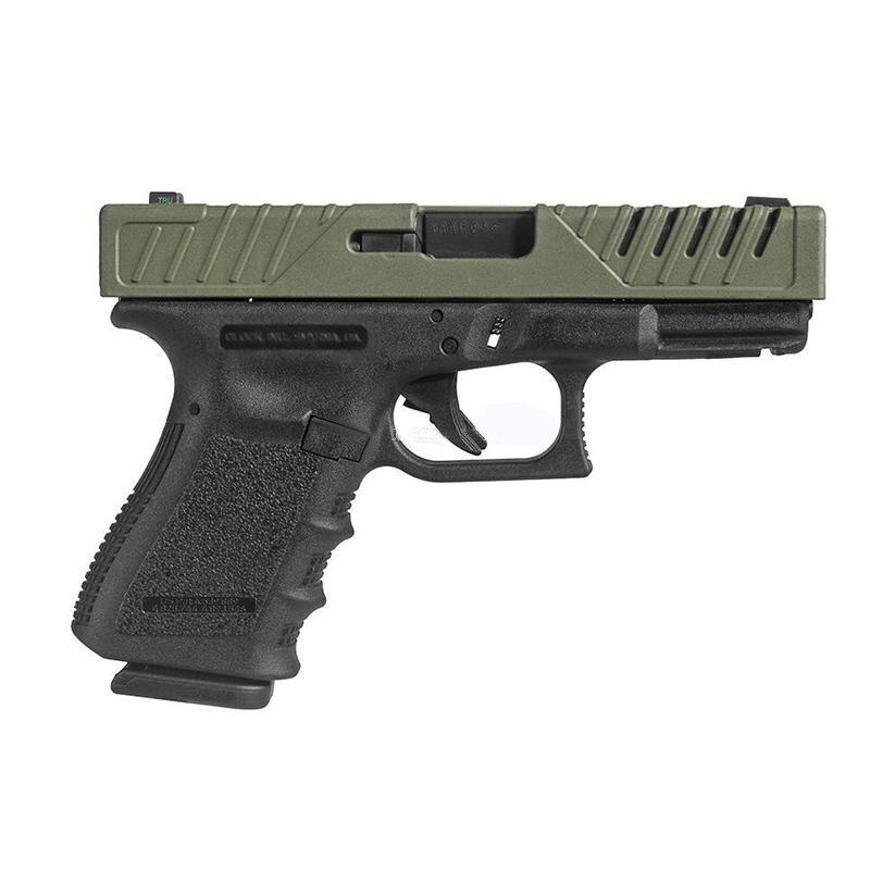 31 polymère Slide Cover 37 FAB Tactique-peau 17-S vert olive pour Glock 17 22