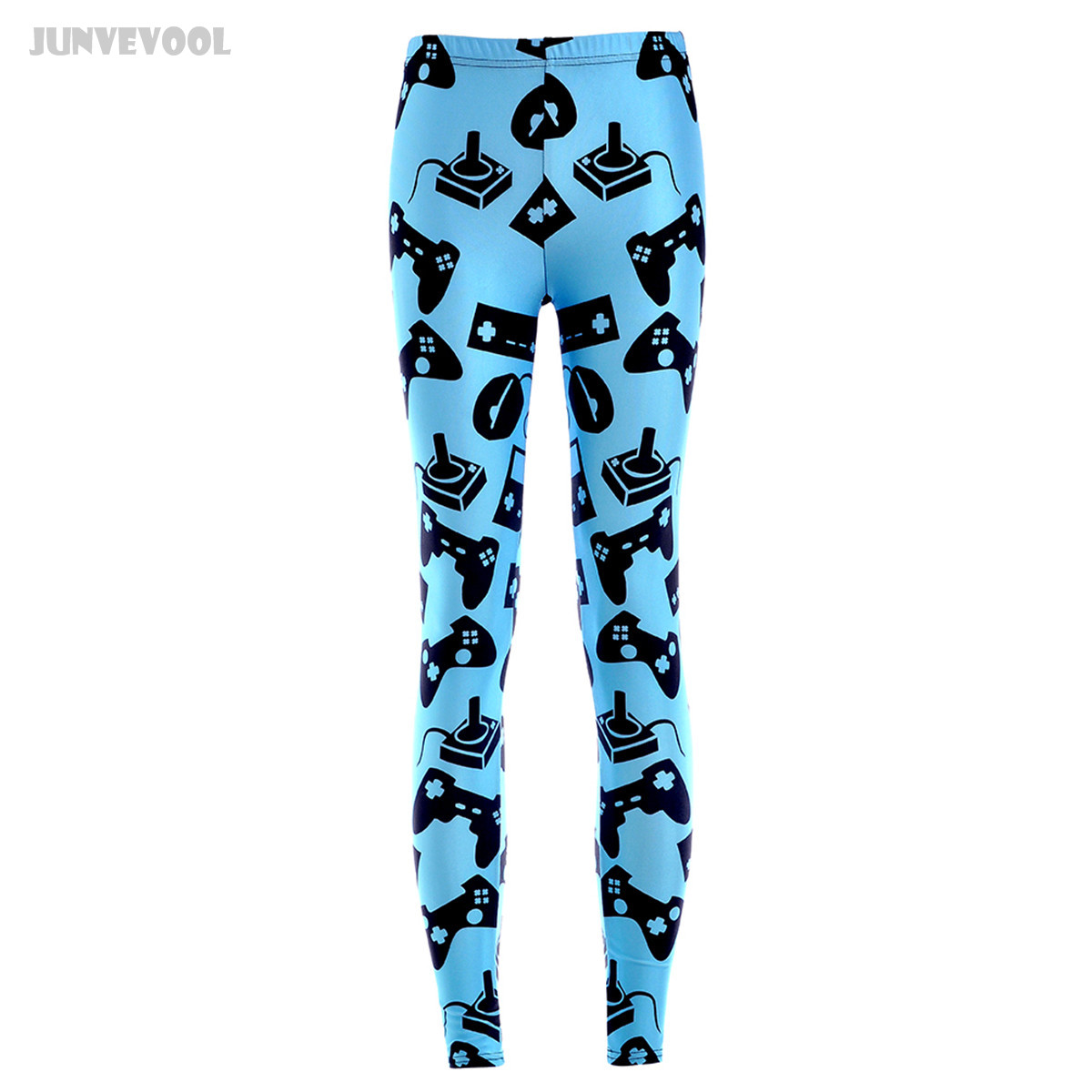 Ropa Gimnasio Mujer Gyms Black Electronic Games Controller Mouse Printed Leggings Fitness Work Out Elastic Runnings Pants Blue