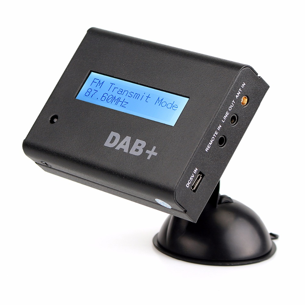 Digital Vehicle DAB+ Radio Car Radio Tuner with FM Transmitter Include Antenna Y4421A fm190 0 5 lcd 206 ch car radio fm transmitter w controller for iphone black 9 26v