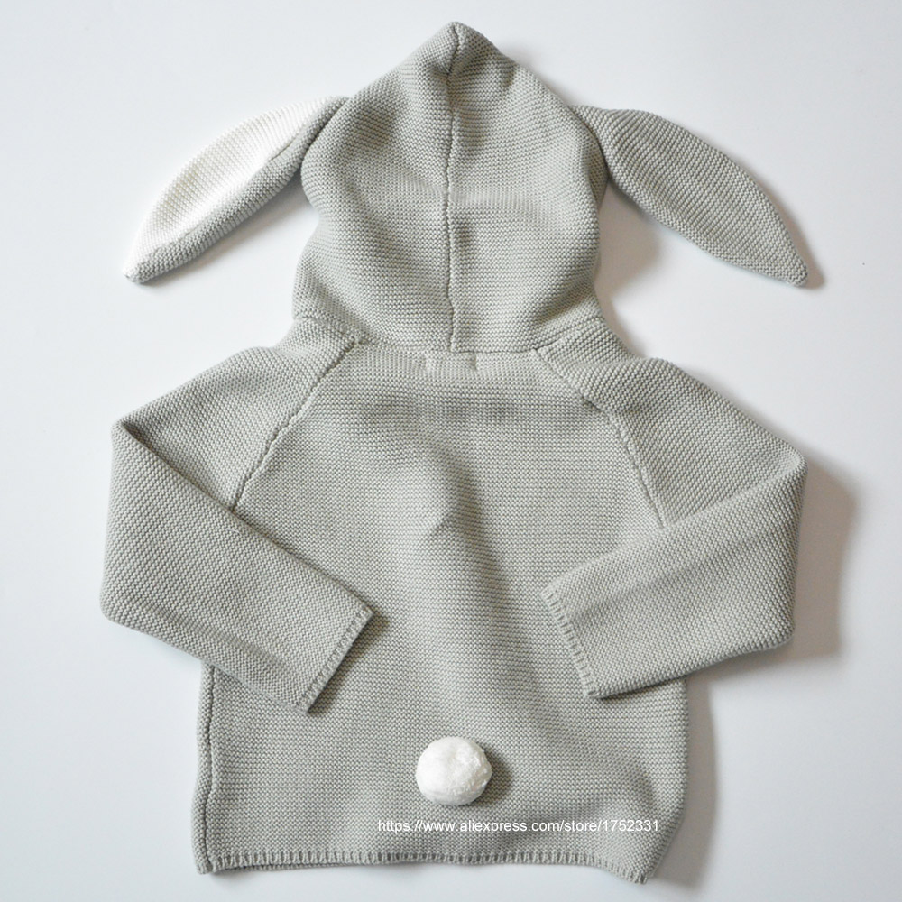 QUIKGROW-Quality-Textured-Cotton-Warm-Knitwear-Baby-Boy-Girl-Long-Sleeve-Sweater-Cute-Bunny-Rabbit-Hooded-Outwear-Tops-YM26MY-5