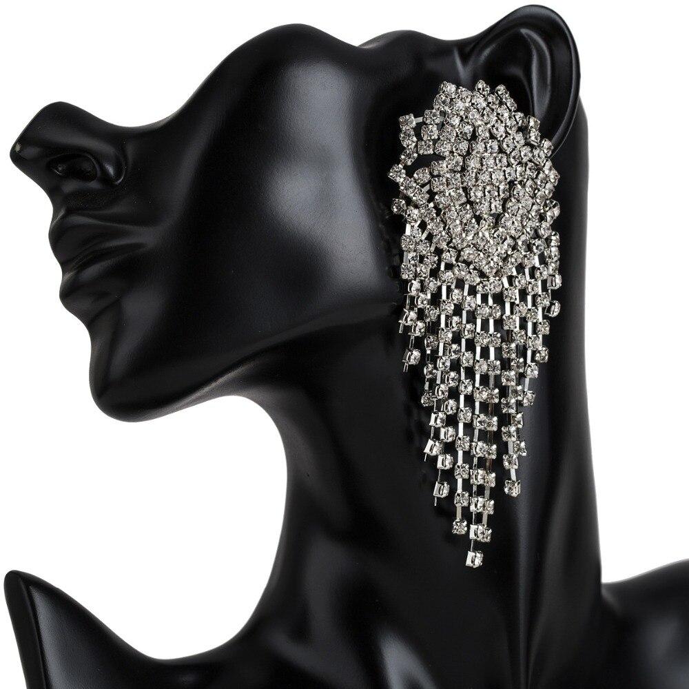 Luxury rhinestone earrings Drop Dangle Earrings For Women Vintage tassel Statement earings fashion jewelry party accessories