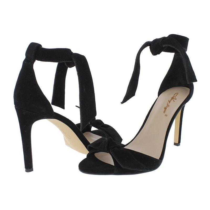 Solide Chaussures partie Noir Dentelle 2019 noeud Papillon Super Cheville Talons up Couverture Sandales Haute Mature Mince De Mariage Ty01 Dames Sangle Femmes OgdqId