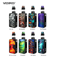 Original Voopoo Drag 2 Vape Kit 177W TC Mod With Uforce T2 SubOhm Tank U2/U3 Powered By Dual 18650 Battery Vape Vaporizer