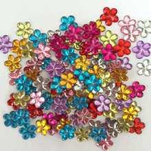 Diy 100 pçs 10mm flor acrílico plum blossom flatback scrapbook artesanato decoração de casamento b01
