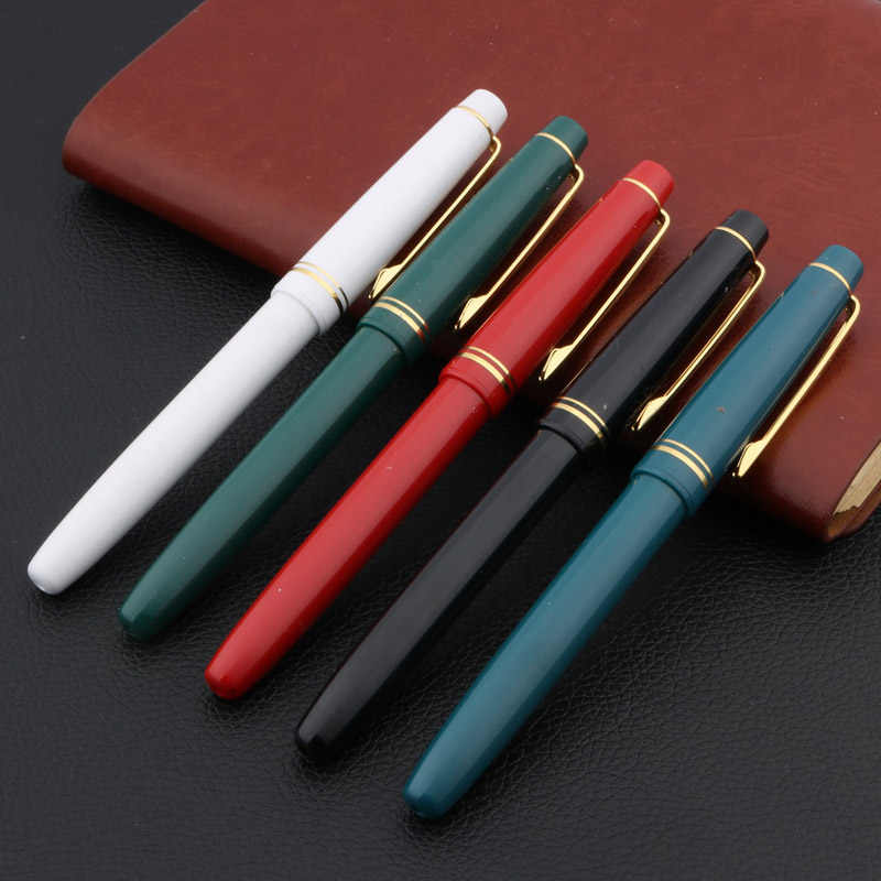 Classic old section Twist the pen cover Luxury GOLDEN  EF WINGS Fountain Pen