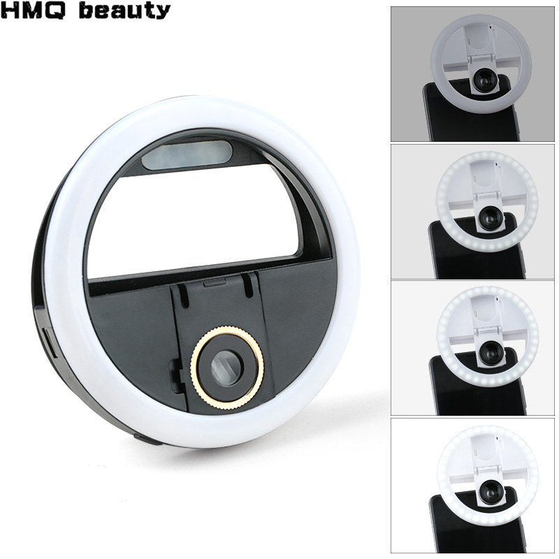 USB Charge LED Selfie Ring Light Macro Eyelash Shooting  Lighting Selfie Enhancing Fill Light For Phones Eyelash Extension Tool