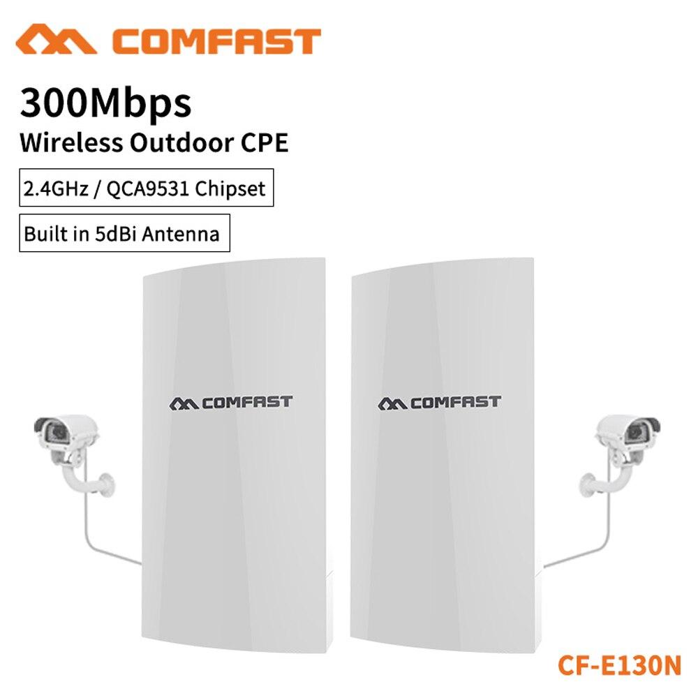 2 pièces COMFAST CF-E130N extérieur Mini sans fil WiFi répéteur d'extension AP 2.4G 300 M CPE routeur WiFi pont Point d'accès AP routeur