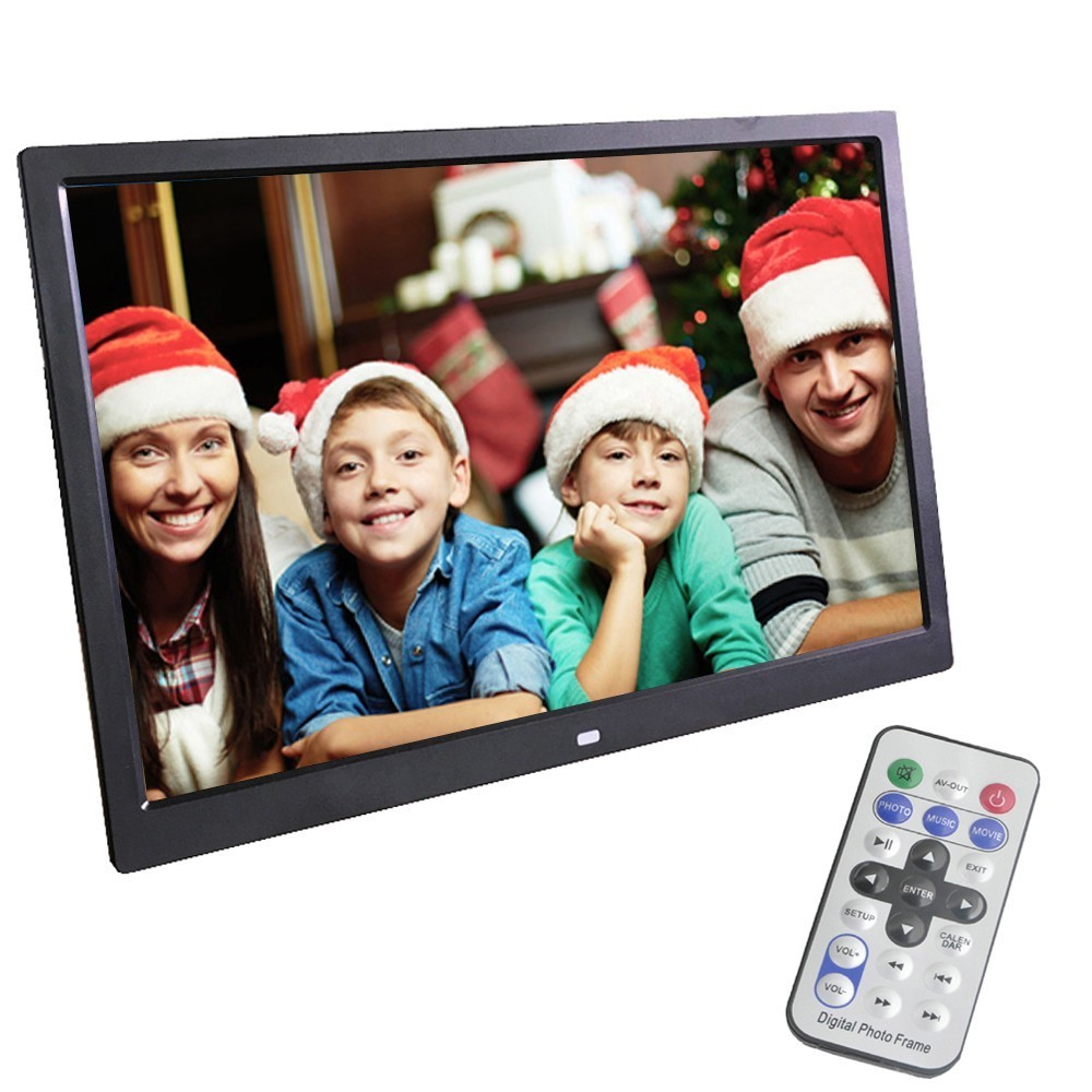 LieDao 14 Inch Digital Photo Frame LED Backlight HD 1280*800 Electronic Album Digitale Picture Music Video Good Gift 10 inch ultra thin digital photo frame