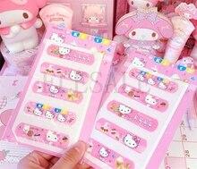 1 Set/5 PCS Cute Hello Kitty Animation Waterproof Cartoon Bandage Sticker Baby Kids Care First Band Aid Travel Emergency Kit