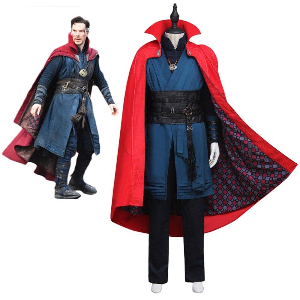 Cosplaydiy Doctor Strange Steven Vincent Strange Benedict Cumberbatch Costume Mens Red Version Cloak Halloween Suit Costume L320