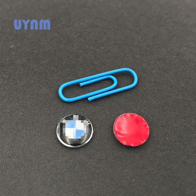 UYNM 2PCS 11mm High temperature painted aluminum car sticker for BMW 3 Series 5 Series 7 Series X3 X4 X5 X6 car key logo