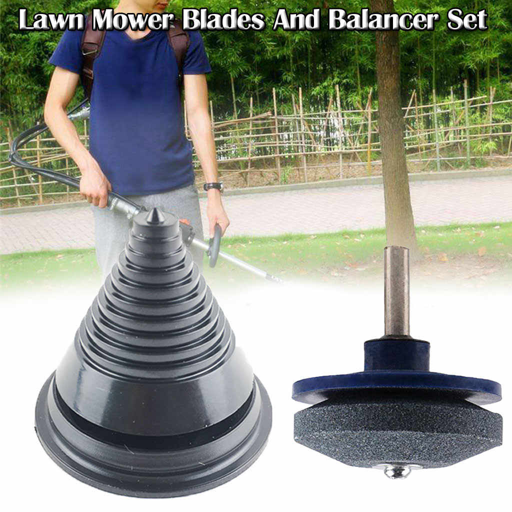 Lawn Mower Blades Sharpener For Power Hand Drill And Balancer Set Sharpener Garden Tool For Home Accessories