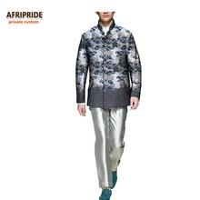 2017 otoño abrigo de los hombres de impresión africana AFRIPRIDE personalizada personalizada de manga completa de un solo pecho de los hombres casuales de algodón puro escudo A731404