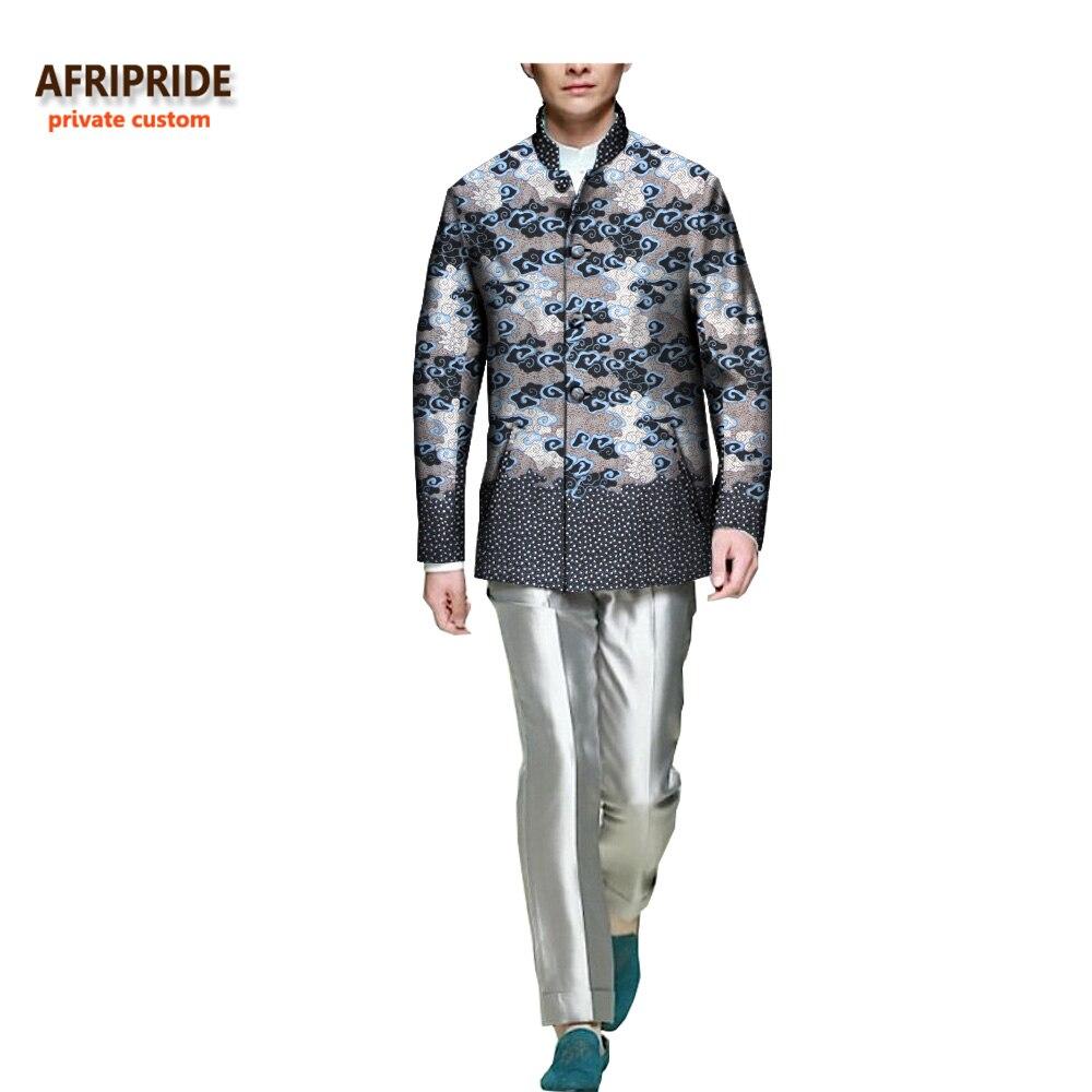 2017 الخريف الرجال معطف أفريقي طباعة - الملابس الوطنية