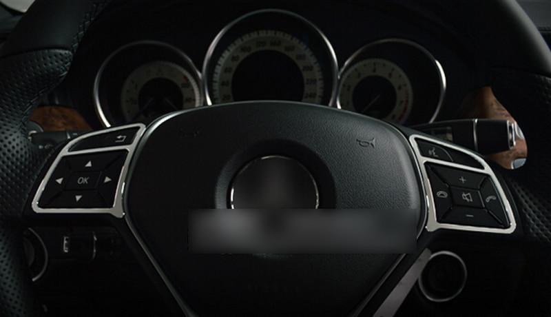 Interior Accessories Car Steering Wheel Cover Frame Decorative Trim For Mercedes Benz E Class W212 2010 2011 2012 2013 2014 2015 17pc x error free led interior dome light lamp kit package for mercedes benz m class w166 ml320 ml350 ml550 2012 2014