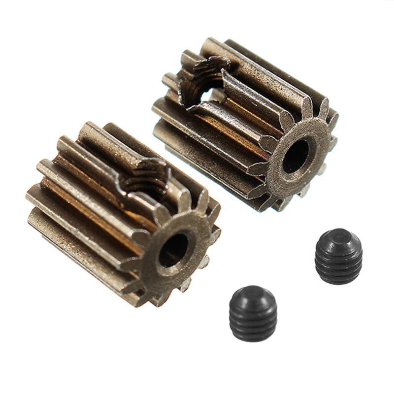 High Quality 2pcs Motor Pinion Gears 12T With Set Screws 3*3mm Brushed Spare Part For HBX 1/12 12891 RC Car
