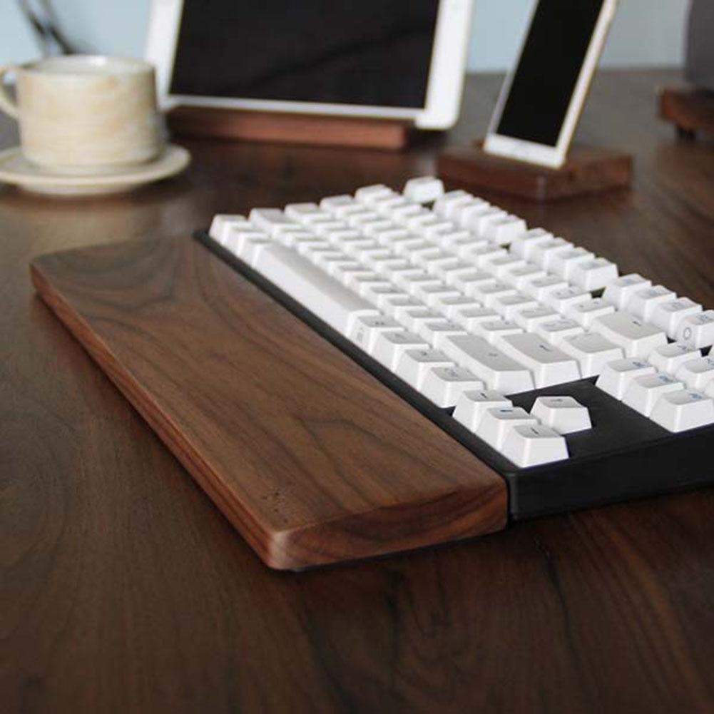 Wooden Mechanical Keyboard Wrist Rest Pad Wrist Support Hand Pad For Mechanical Keyboard QJY99