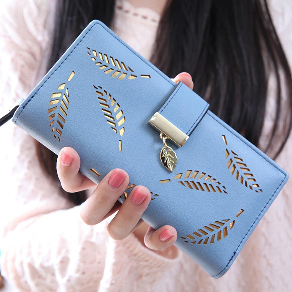 new arrival wallet women high quaity Leaf Bifold Wallet Leather Clutch Card Holder Purse Lady Long wallets carteira feminina #0 new arrival turbowing 5 8ghz 3dbi 3 leaf