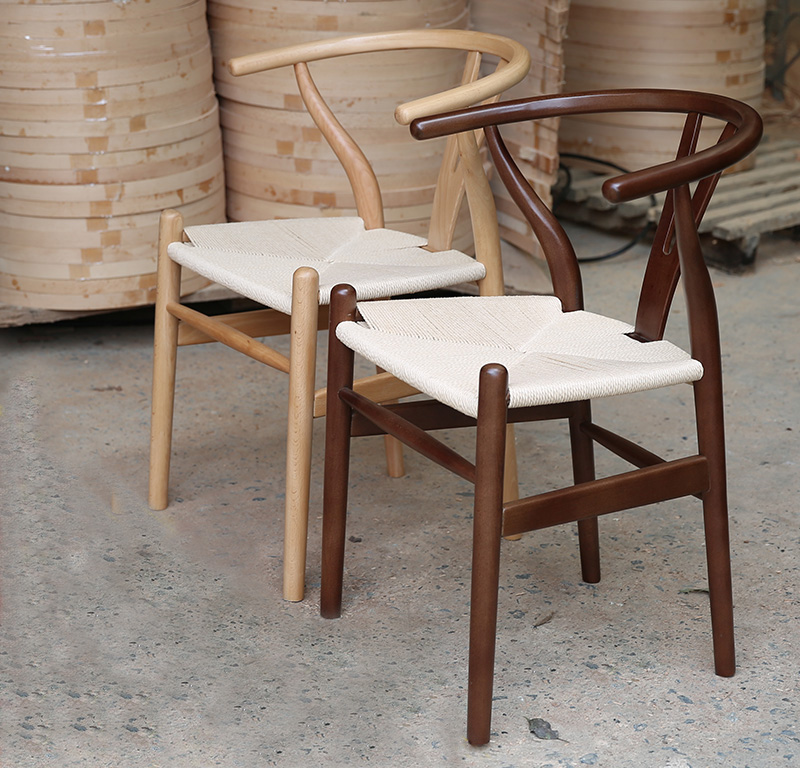 Replica modern design hans wegner wishbone y chair popular for Replica sedie design