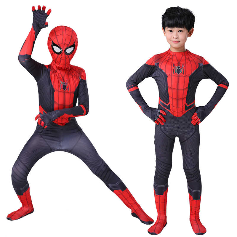Kids Boys Far from home Spider-man Cosplay Costume Zentai Suit Child Homecoming Spiderman Halloween Event Holiday Costume