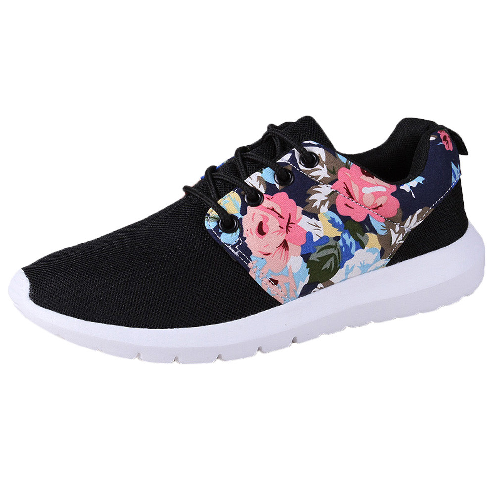 Women Trainers Breathable Print Flower designer flats women luxury 2018 Shoes Woman 2018 Summer Mesh Low Top Shoes ZapatillasWomen Trainers Breathable Print Flower designer flats women luxury 2018 Shoes Woman 2018 Summer Mesh Low Top Shoes Zapatillas
