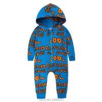 Bébé garçons filles vêtements nouveau-né barboteuse bébé salopette chanceux enfant bande dessinée à manches longues barboteuse de noël pyjamas onesie