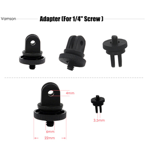 Image 4 - Vamson for Gopro Accessories Motion camera tripod screw tripod adapter 1/4 screw For Gopro 6 5 4 3+ 3 for Xiaomi for SJCAM VPX1