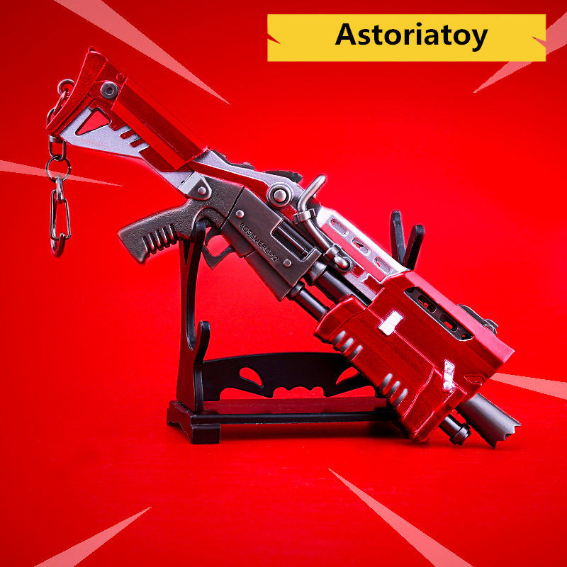 fortnight Battle Royale Toy Model The Tactical Shot gun Keychain Alloy Weapons Kids Toy Collection Decoration zinc alloy fort weapons fortnit metal model toy nite keychain gun sniper rifle awm nit figure fornite
