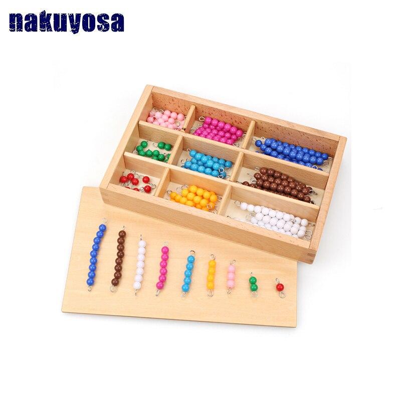 Perles de couleur mathématiques aides pédagogiques enfants Montessori classe aides pédagogiques maternelle éducation précoce enfants jouets