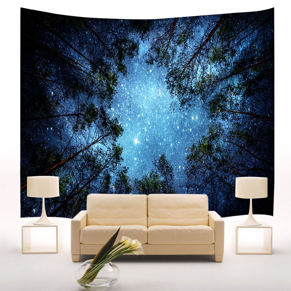 Stars starry sky fabric wall hanging tapestry decor for Decorations plus