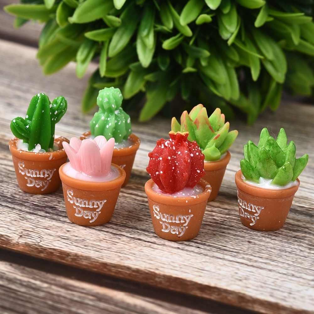 6 шт./компл. Micro резиновый, для суккулентов растения бонсай украшения мини фигурки дома садовый декор, украшение игрушки для детей