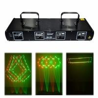 HOT SHINP 4 Lens 260mW 7CH DMX 512 RG Laser DPSS Scanner Equipment Stage Lighting PRO