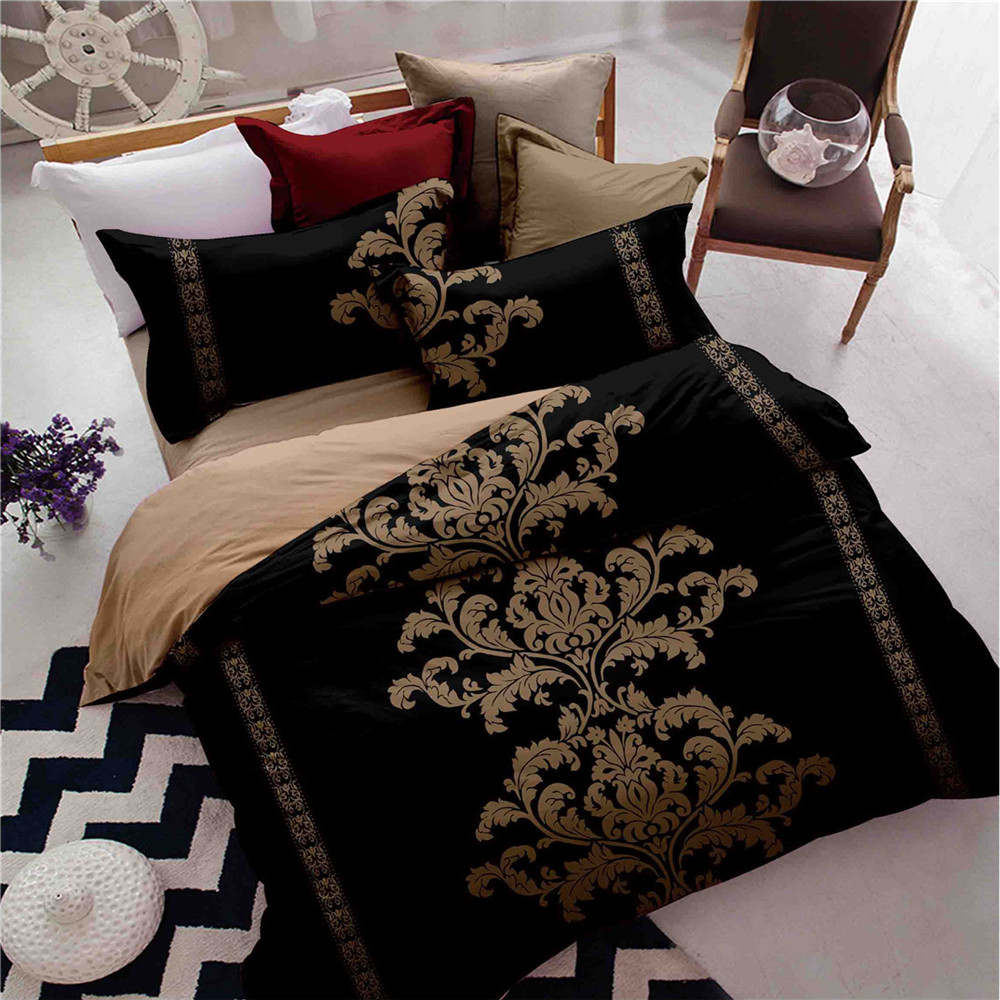 unique bed sheet sets promotionshop for promotional unique bed  - unique design luxurious series bedding sets blackred quilt cover flat bedsheet pillowcase fullqueenkingtwin size no filling