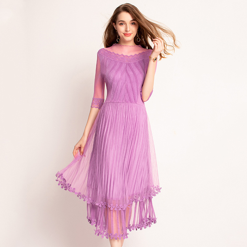 شبكة الغزل الربيع الصيف Pelats أزياء جديدة المد اللباس-في فساتين من ملابس نسائية على  مجموعة 1