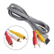 1.8m/5.91ft  Audio Video AV Stereo 3 RCA Composite Cable 1.8M For Nintendo Wii Game Console