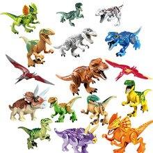 1 pcs Jurassic Dinosaurs My World Figures Building Blocks Bricks Compatible Duplos Animal Toys For Children Gift